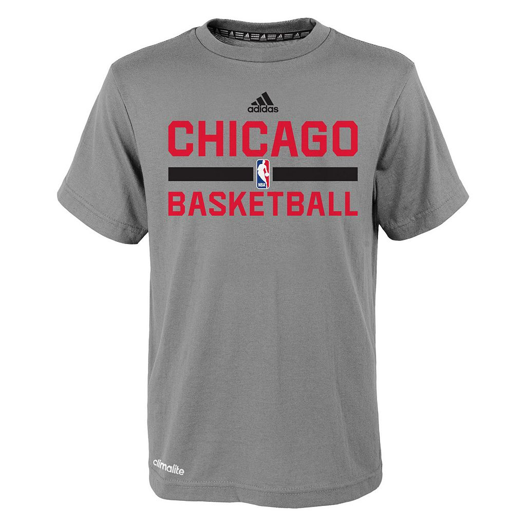 Boys 4-7 adidas Chicago Bulls Heathered Practice climalite Tee
