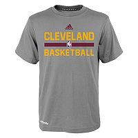 Boys 4-7 adidas Cleveland Cavaliers Heathered Practice climalite Tee