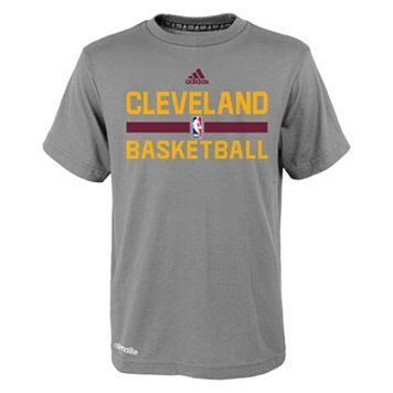 Boys 4-7 adidas Cleveland Cavaliers Heathered Practice climalite Tee