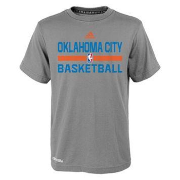 Boys 4-7 adidas Oklahoma City Thunder Heathered Practice climalite Tee