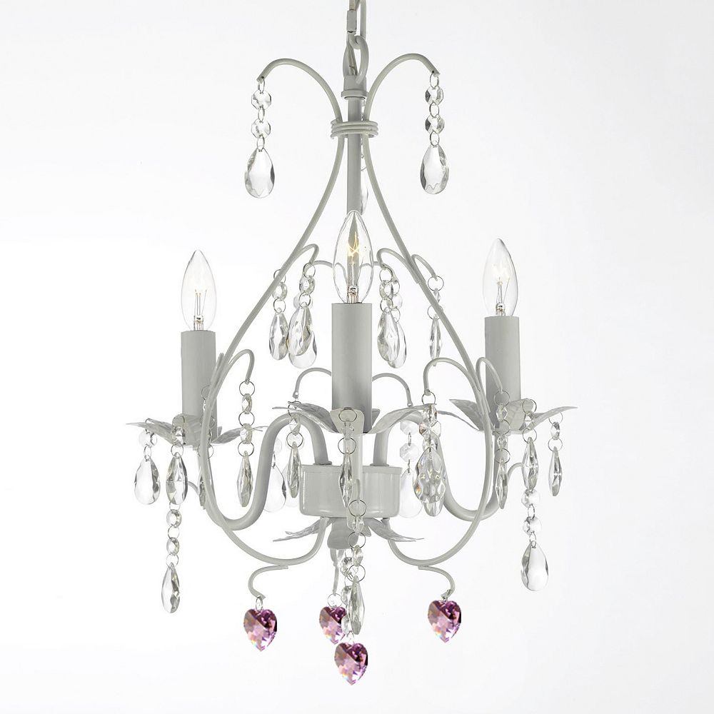 Pink heart chandelier musethecollective wrought iron pink heart crystal swag chandelier arubaitofo Image collections