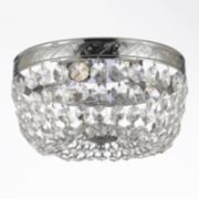 Gallery Flush Empire Crystal 3-Light Ceiling Light