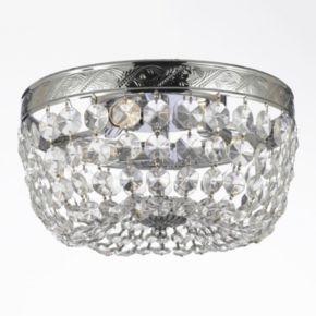 Gallery Flush Empire Crystal 3-Light Ceiling Light