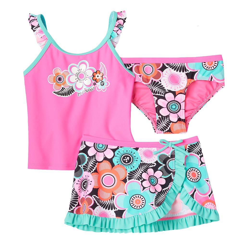 Girls 4-6x ZeroXposur Tankini Swimsuit Set