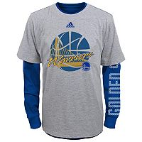 Boys 4-7 adidas Golden State Warriors Cager Tee Set