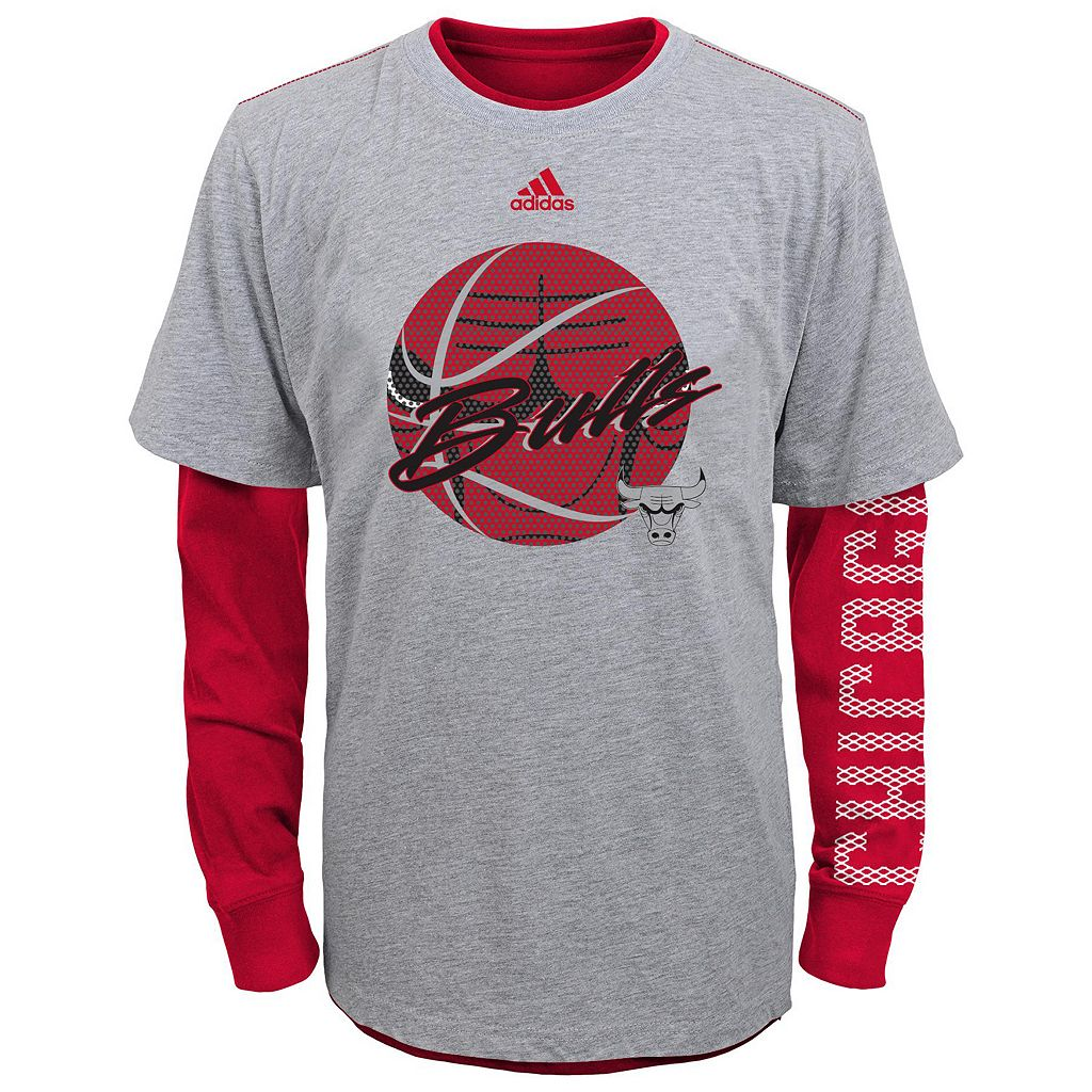 Boys 4-7 adidas Chicago Bulls Cager Tee Set