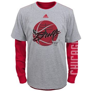 Boys 4-7 adidas Chicago Bulls Cager Tee Set