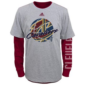 Boys 4-7 adidas Cleveland Cavaliers Cager Tee Set