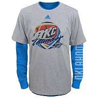 Boys 4-7 adidas Oklahoma City Thunder Cager Tee Set