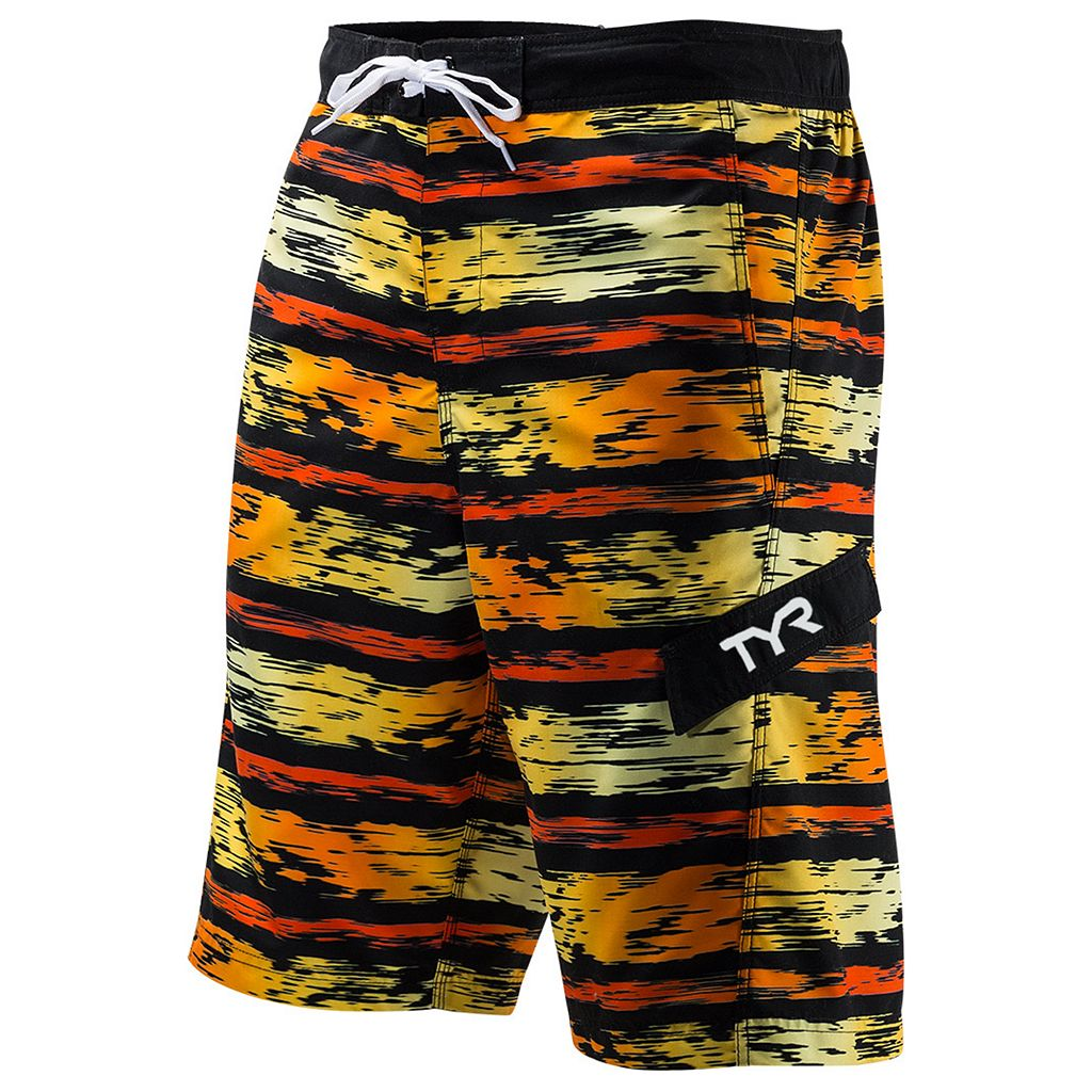 Men's TYR Paint-Striped Swim Trunks