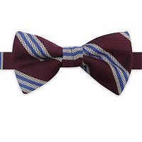 Haggar Wool Blend Striped Pretied Bow Tie - Men