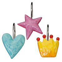Creative Bath Faerie Princesses 12 pkShower Curtain Hooks