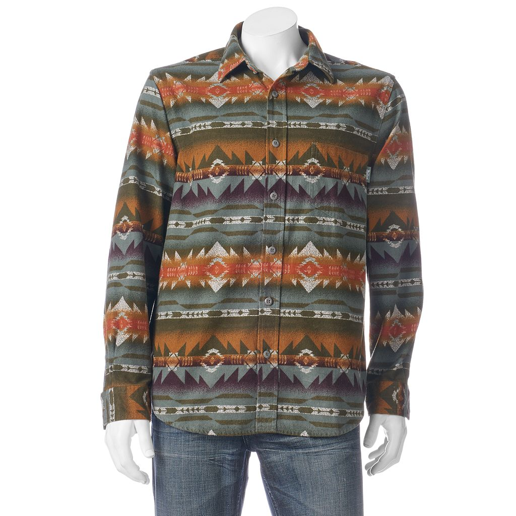 Men's Woolrich Tiadaghton Print Button-Down Shirt