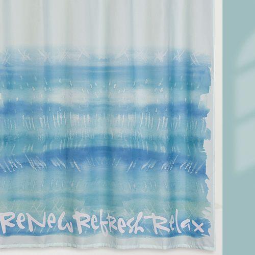 Kathy Davis Splash Fabric Shower Curtain