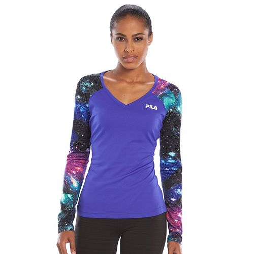 96b5ea4c Women's FILA SPORT® Printed V-Neck Workout Top