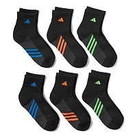 Boys adidas 6-Pack ClimaLite Quarter Socks