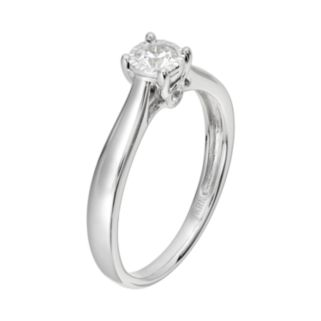 Diamond Engagement Ring in 14k White Gold (1/4 Carat T.W.)