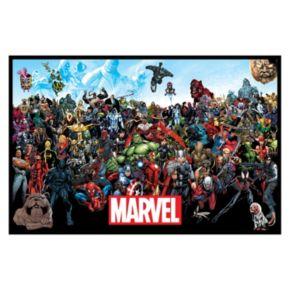 Marvel Lineup Framed Wall Art