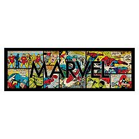 Marvel Typography Multi Comic Panel Framed Wall Art