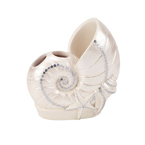 Sequin Shells Toothbrush Holder