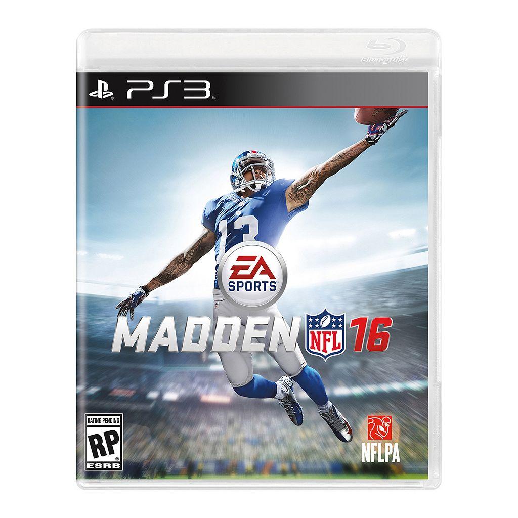 Madden NFL 16 for PlayStation 3
