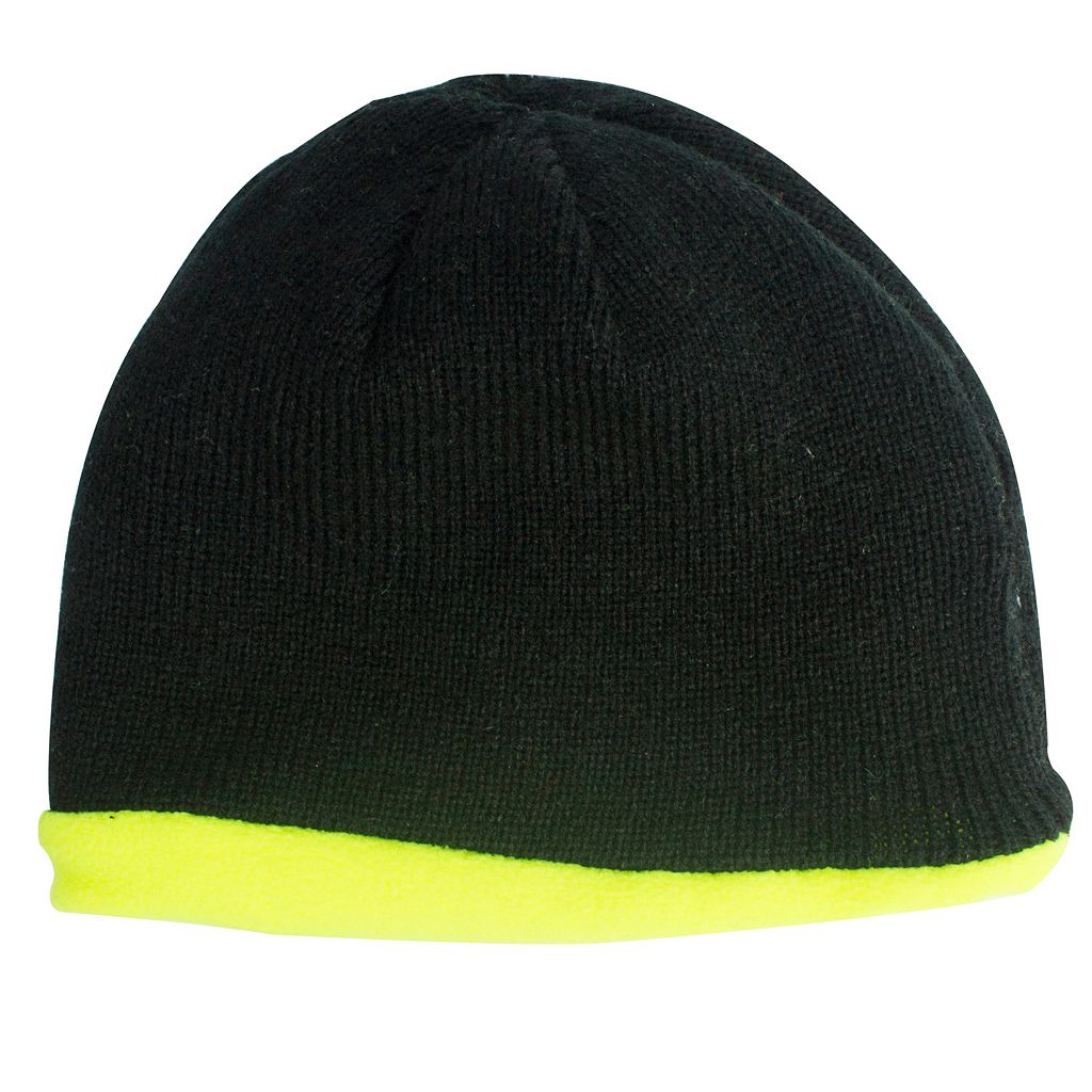 QuietWear Reversible Fleece & Knit Beanie - Men