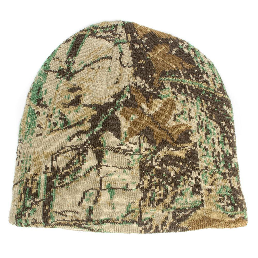 QuietWear Digital Knit Camouflage Beanie - Men