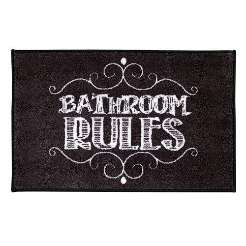 Chalk It Up Bath Rug