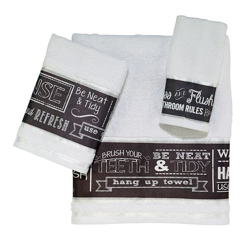 Chalk It Up Bath Towels