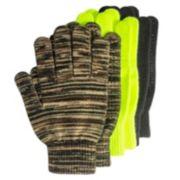 QuietWear 3-pack Grip-Dot Gloves - Men