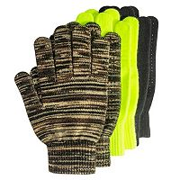 QuietWear 3-pack Grip-Dot Gloves - Men