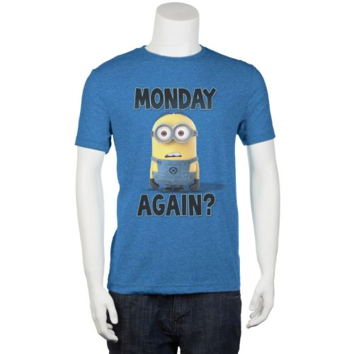 "Big & Tall Despicable Me ""Monday Again"" Tee"