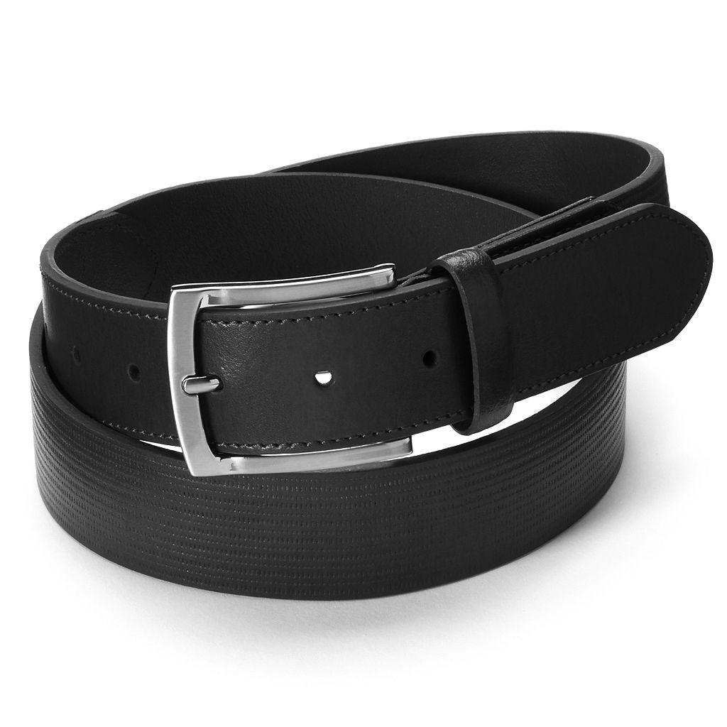 Men's Grand Slam Striped Embossed Leather Golf Belt