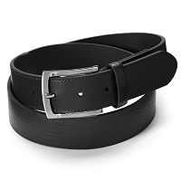 Men's Grand Slam Striped Embossed Leather Golf Belt