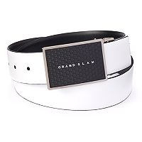 Big & Tall Grand Slam Reversible Dimpled Plaque-Buckle Belt