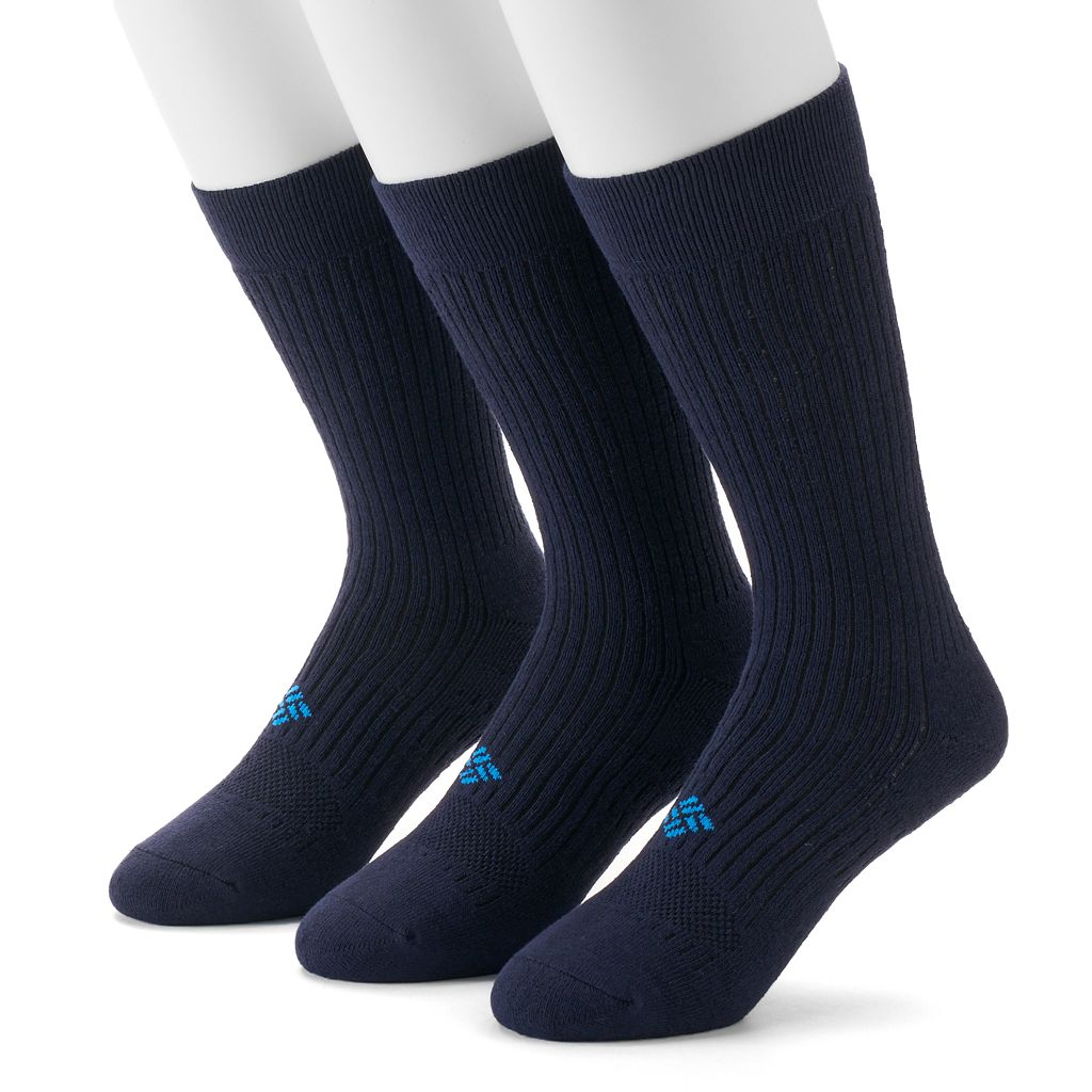 Men's Columbia Sportswear 3-pack Cushioned Casual Crew Socks