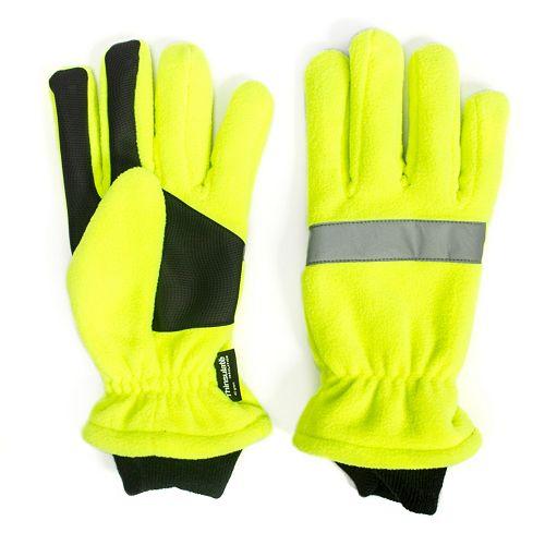 Men's QuietWear Green Waterproof Fleece Gloves