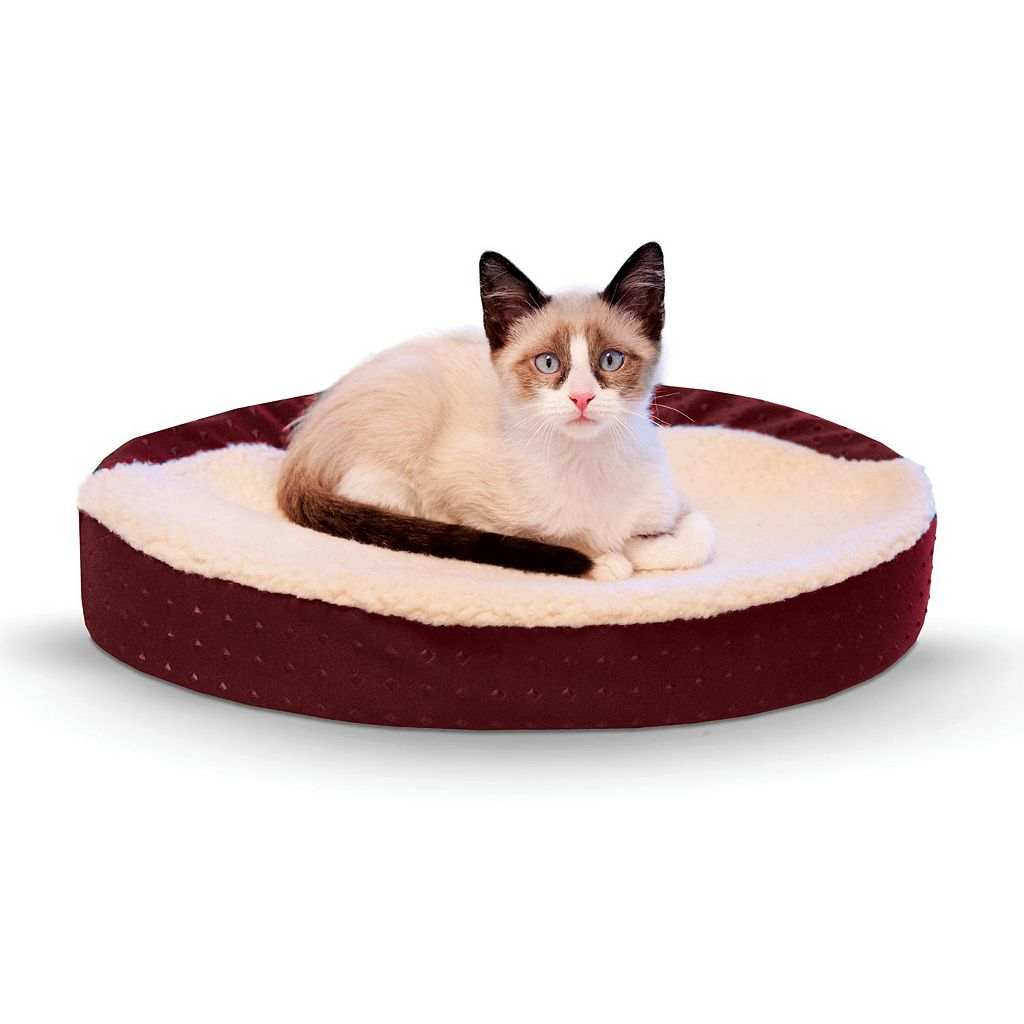 K&H Pet Ultra Memory Orthopedic Oval Cuddle Nest Pet Bed
