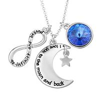 Charming Inspirations Moon & Infinity Charm Necklace