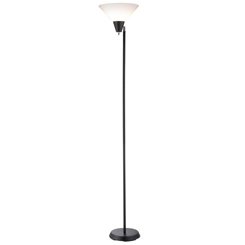 Adesso Swivel Black Floor Lamp