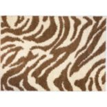Infinity Home Madison Safari Zebra Print Shag Rug