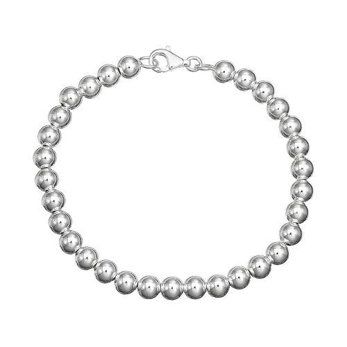 PRIMROSE Sterling Silver Bead Chain Bracelet
