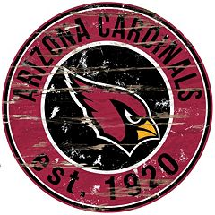 Arizona Cardinals Distressed 24' x 24' Round Wall Art
