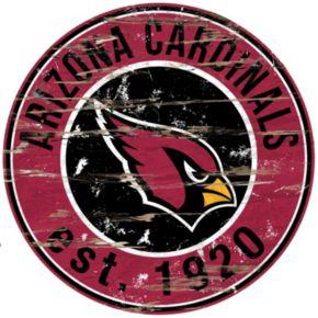 "Arizona Cardinals Distressed 24"" x 24"" Round Wall Art"