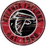 "Atlanta Falcons Distressed 24"" x 24"" Round Wall Art"