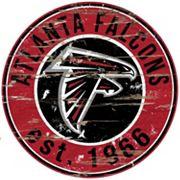 Atlanta Falcons Distressed 24' x 24' Round Wall Art