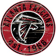 Atlanta Falcons Distressed 24' x 24' Round Wall Art