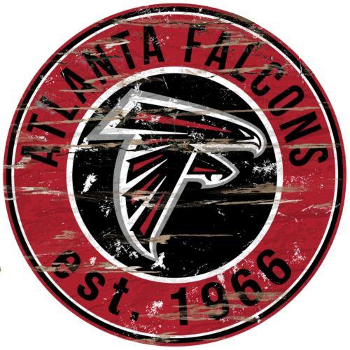 Atlanta Falcons Distressed 24 x 24 Round Wall Art