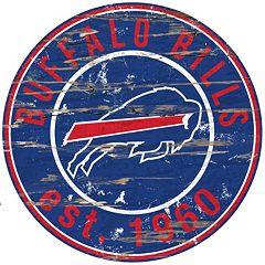 Buffalo Bills Distressed 24' x 24' Round Wall Art