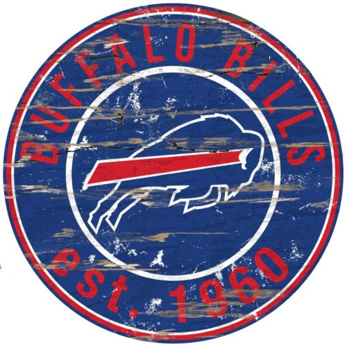 Buffalo Bills Distressed 24″ x 24″ Round Wall Art